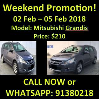WEEKEND SALE MITSUBISHI GRANDIS