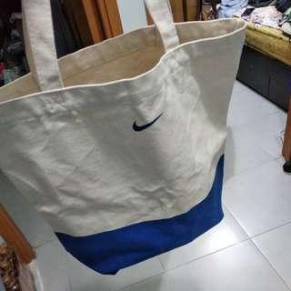 good quality nike canvas tote bag 米白色帆布袋