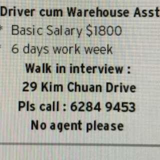 Warehouse cum driver assistance