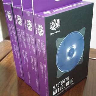 Brand New Coolermaster Blue LED Fan x 4