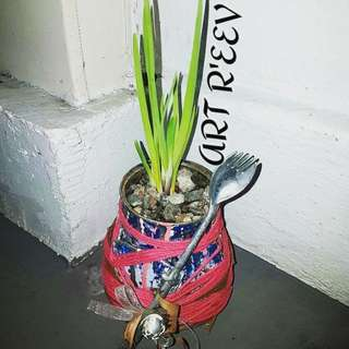 Spring Onion In A Tin Can.