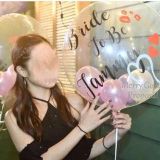 水晶氣球+4個12'乳膠氣球
