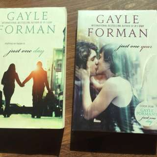 Just One Day (1st book) and Just One Year (2nd book) by Gayle Foreman