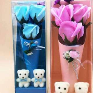 Soap Flowers with bears