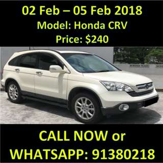 WEEKEND SALE 2-5 FEB HONDA CRV 2.4
