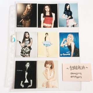 After School E-young photocards