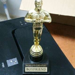 World's Greatest Boyfriend trophy