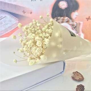 Baby Breath Flower Bouquet (Valentine's Day) - Small