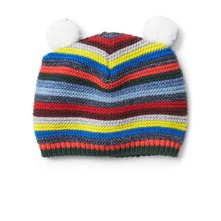 Gap Crazy stripe bear garter beanie