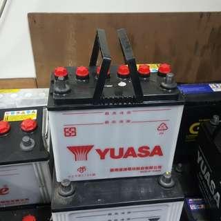 (二手中古電池) Yuasa 55B24LS-加水式汽車電池 數值漂亮,品項優