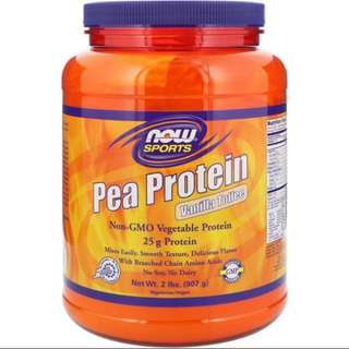 Now Foods, Sports, Pea Protein, Vanilla Toffee,2 lbs (907 g)