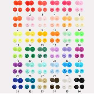 Coloured/white T5 snap buttons cheapest in carousell!