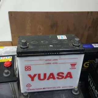 (二手中古電池) Yuasa 46B24LS-加水式汽車電池 數值漂亮,品項優