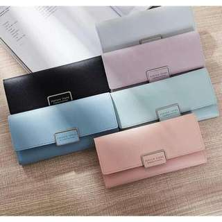 FOREVER YOUNG women purse Ready stock material : pu Size : 2*19*10.5cm Colour : wine red, black, blue, mint, gray, gray, pink, purple