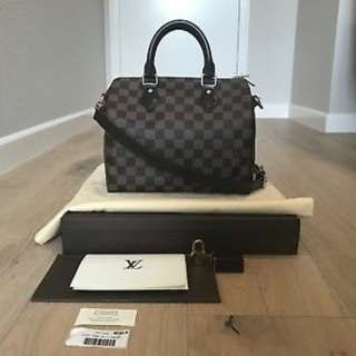 Authentic Speedy 25 Crosssbody Bandouliere Louis Vuitton