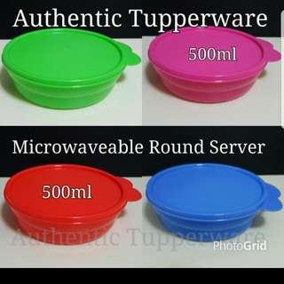 Authentic Tupperware  Microwaveable Round Server 500ml  《Retail Price S$9.40/Pc》 tw