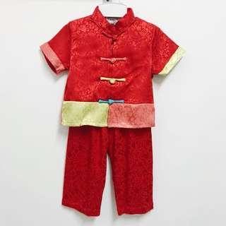 CNY Silky Boy Set (Red)