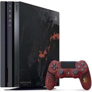 PlayStation 4 Pro Monster Hunter World Rathalos Edition