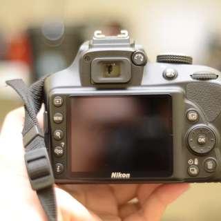 Nikon D3400 kit lens and 50mm 1.8 lens with SB-300 flash
