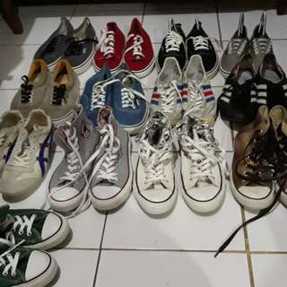 Converse, vans, adidas, asics