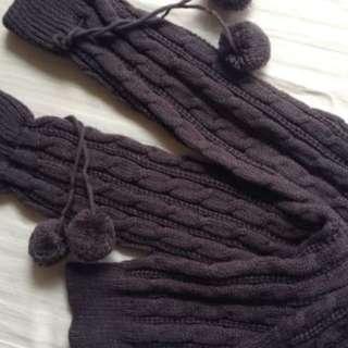 Dark Grey Knitted Leg Warmers