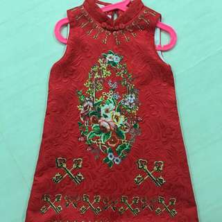 CNY Dress Red cheongsum
