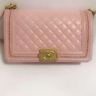 Chanel 粉紅色 Leboy 25cm
