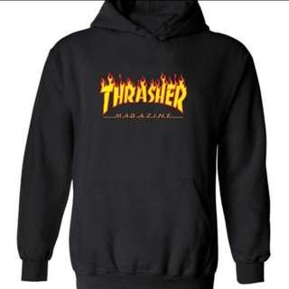 Thrasher Flame Hoodies Sweater