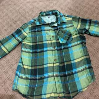 Uniqlo little boy checkered top
