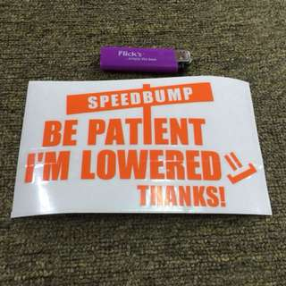 sticker speedbump