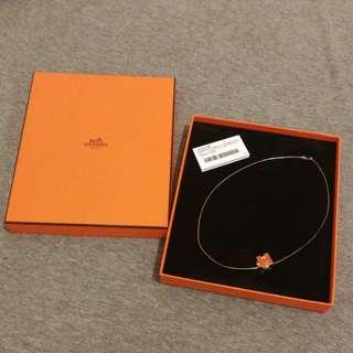 Hermes Necklace Orange Original