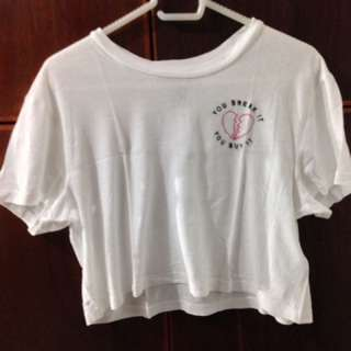 Forever 21 cropped graphic tee