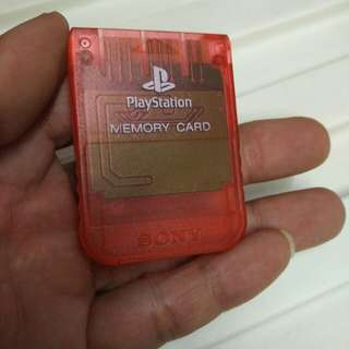 play Station Memory Card Sony
