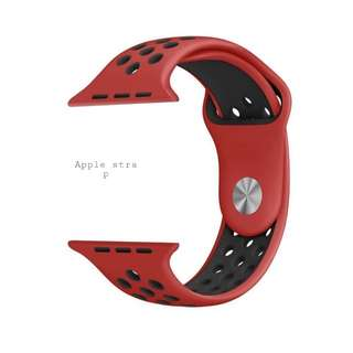 RED BLACK SERIES APPLE IWATCH STRAP