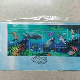 1998年 澳洲首日封 包本地平郵