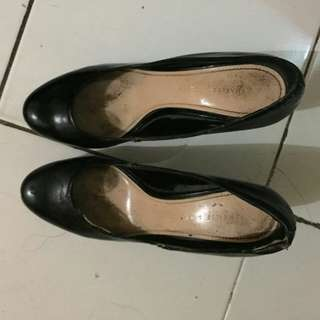 Charles and Keith black high heels