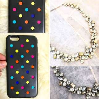 Authentic Kate Spade Iphone6 Casing & Zara Necklace