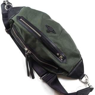 Vivienne Westwood VWB 381 Made in Japan Leather Body Bag Olive (SHIP FROM JAPAN)