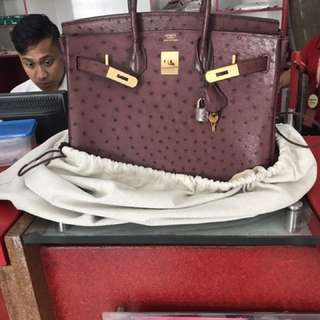 Hermes Birkin 35 Ostrich SOLD SHIPPED