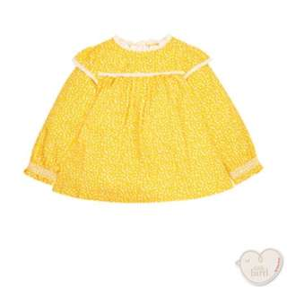 Brand New Mothercare Little Bird by Jools Yellow Ditsy Blouse Size 2-3 years