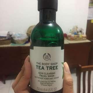 Tea tree bodyshop facial wash