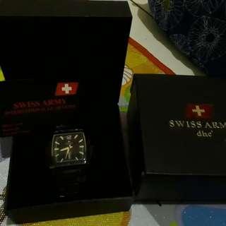 Jam Tangan Swiss Army Black