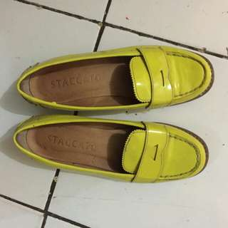 Staccato Yellow Flat Shoes