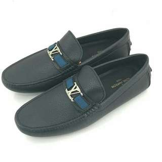SEPATU LV TAIGEA BLACK LIST NAVY BLUE ORI LEATHER MIRORR QUALITY FOR MEN