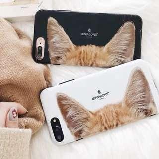 貓貓耳仔黑邊Iphone軟殻🐱