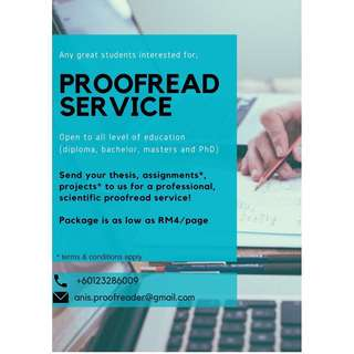 ✨ Proofreading Service ✨