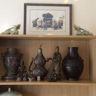 Antique Qing Dynasty Wine Pewter