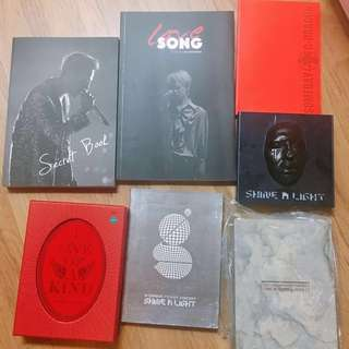 Big Bang G Dragon Official Album & Fansite Goods