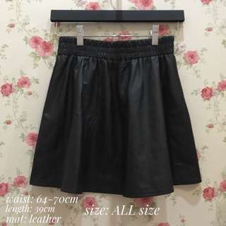 skirt leather black singapore