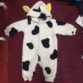 Baby Jumpsuit Animal Cow